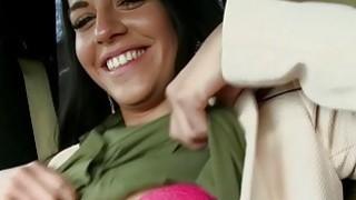 Beautiful stranded babe Eveline Dellai in a wild ride