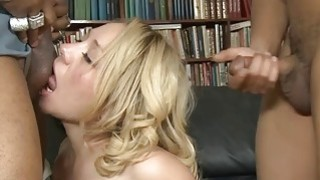 Bambi Diamond double pounded by many huge black cocks