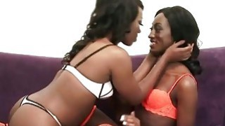 Beautiful Ebony Chicks Monica Rae And Skyler Nicole Having Sensual Lesbo Fun