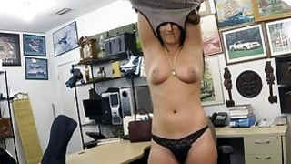 Tight brunette gets pounded pawn guy at the pawnshop