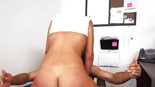 Teen slut Victoria Valenicia fucked in the office