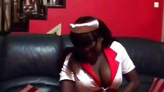 Curvy Ebony Slut Sucking And Riding White Schlong