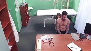Big dick Luke fucks a hot doctor with natural tits
