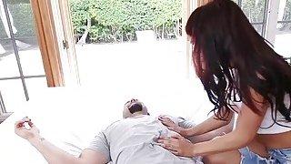 Petite brunette Latina craves huge dick