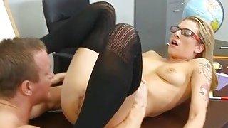 Her 1st older cock