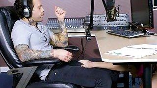 Busty redhead hottie Dani Jensen gets pounded by radio DJ
