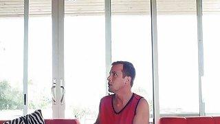 Horny Amethyst Banks interrupting boyfriend from watching