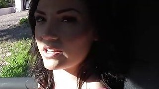 Jessica Rex having sex with a stranger inside his car