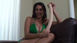 Oversized dildo slut