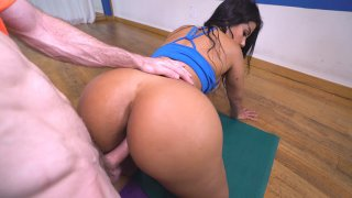 Curvy Latina Rose Monroe getting doggystyled in POV