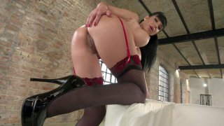 Valentina Ricci demonstrates her hot ass and big boobs