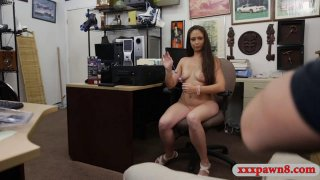 Hot amateur woman railed at the pawnshop