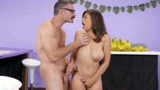 Latina Ella Knox gets her big natural tits fucked