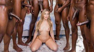 Interracial gangbang rape brutal monstercock hot porn