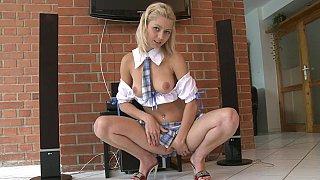 Schoolgirl's naughty desires