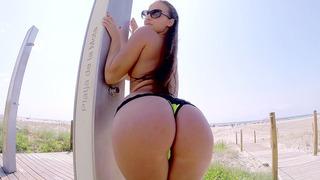 Amirah Adara showing off her incredible ass in public